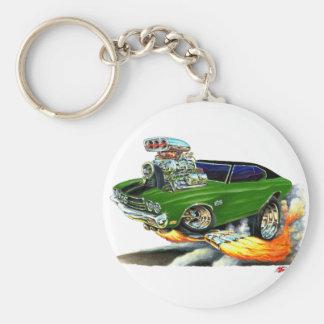 1970 de Auto van de groen-Zwarte Chevelle Sleutelhanger