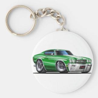 1970 de Auto van het groen-Wit Chevelle Sleutelhanger