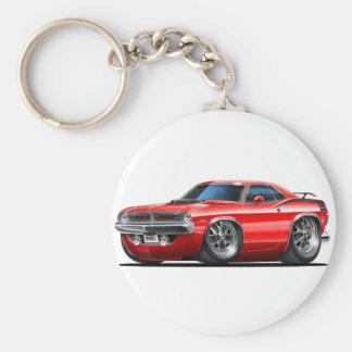 1970 de Rode Auto van Plymouth Cuda Sleutelhanger