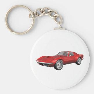 1970 de Sportwagen van het Korvet: Rood eindig Sleutelhanger