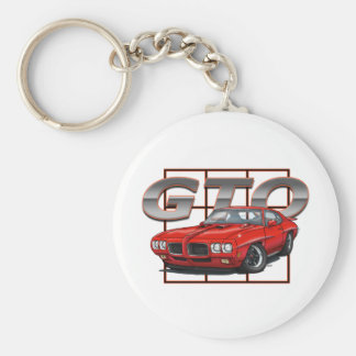 1970 Rood GTO Sleutelhanger