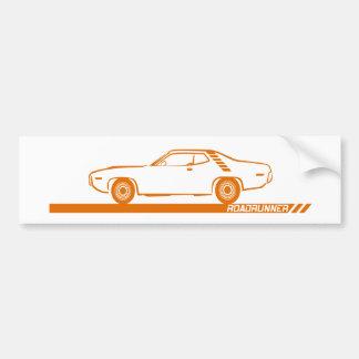 1971-72 Oranje Auto Roadrunner Bumpersticker