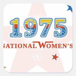 1975_Woman.png Vierkante Sticker