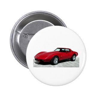 1979 Rode Klassieke Auto Ronde Button 5,7 Cm