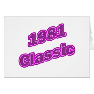 1981 Klassieke Paars Kaart
