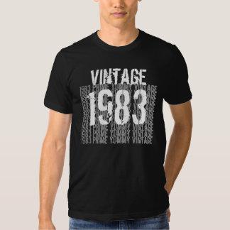 1983 Verjaardag Beste 1983 Vintage Zwarte G200 Tshirt