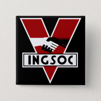 1984 Ingsoc Vierkante Button 5,1 Cm