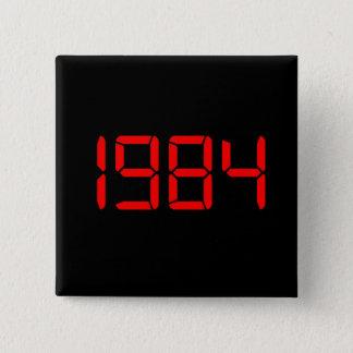 1984 VIERKANTE BUTTON 5,1 CM