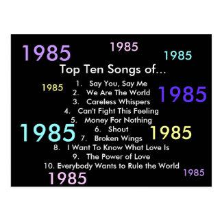 1985 Liederen Briefkaart