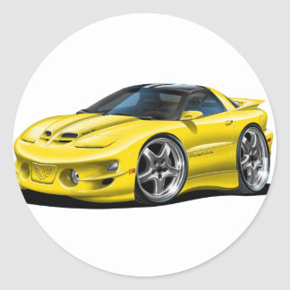 1998-02 trans Am Gele Auto Ronde Sticker
