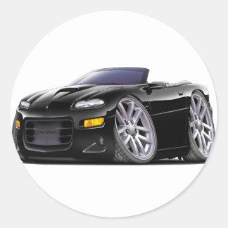 1998-03 Zwarte Convertibel van Camaro SS Ronde Sticker