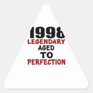 1998 LEGENDARISCHE OUD AAN PERFECTIE DRIEHOEKIGE STICKERS