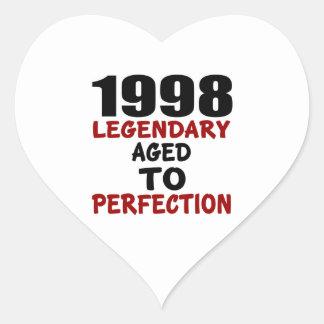 1998 LEGENDARISCHE OUD AAN PERFECTIE HART STICKERS