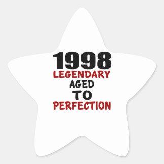 1998 LEGENDARISCHE OUD AAN PERFECTIE STER STICKERS