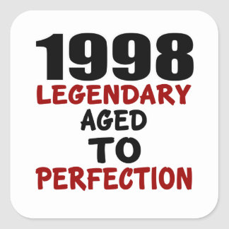 1998 LEGENDARISCHE OUD AAN PERFECTIE VIERKANTE STICKER