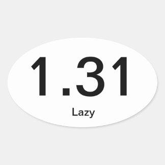 1.31 lui ovale sticker