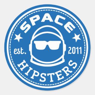 """1.5 de"""" RuimteStickers van het Logo Hipsters Ronde Sticker"""