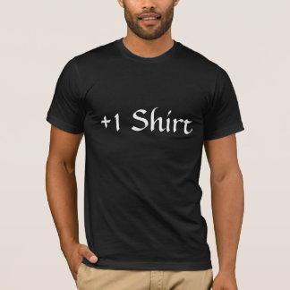 +1 het Zwarte T-shirt van het overhemd