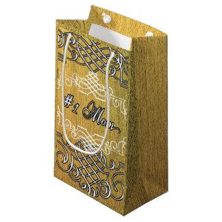 #1 moederdag van de mamma het Gouden typografie Klein Cadeauzakje