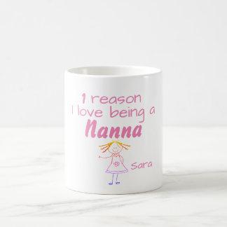 1 reden I liefde die een Nanna - Meisje zijn Koffiemok