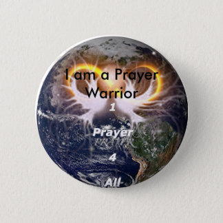 1prayer4all14, ben ik een Strijder van het Gebed Ronde Button 5,7 Cm