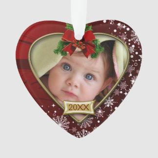 1st Kerstmis van het rood/van de Baby van Ornament