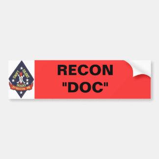 "1st_recon-bn_insig, RECON ""doc. "" Bumpersticker"