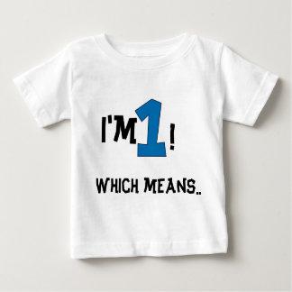 1st verjaardag baby t shirts