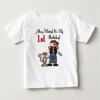 1st Verjaardag van de Piraat van Ahoy de Baby T Shirts