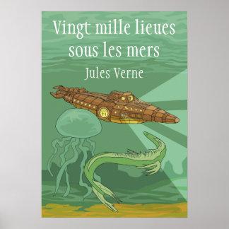 20000 lieuessous les mers - Jules Verne Poster