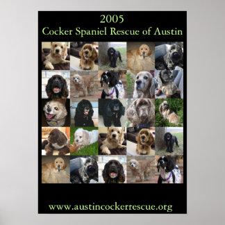 2005 het Poster van de Redding van de Cocker-spani