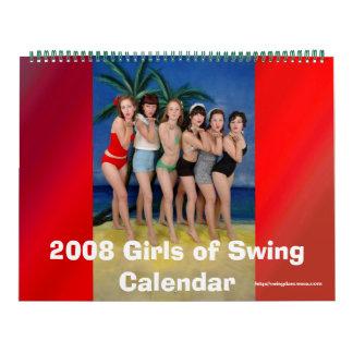 2008 meisjes van de Kalender van de Schommeling
