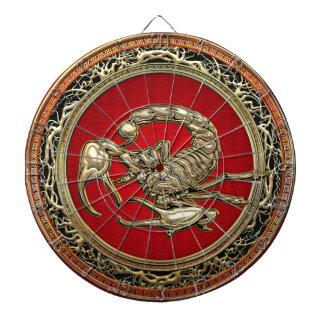 [200] Heilige Gouden Schorpioen op Rood Dartbord