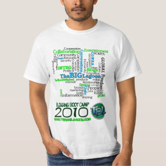 2010 Blogging Boot Camp Wordshirt T Shirt