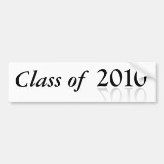 2010 de Klasse van de de bumpersticker van