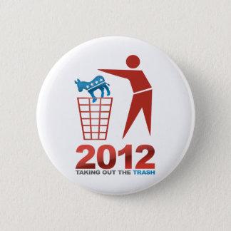 2012 DEM van het afval Ronde Button 5,7 Cm
