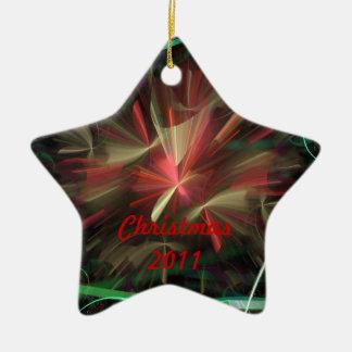 2012 van Kerstmis 2011/Nieuwjaar Keramisch Ster Ornament