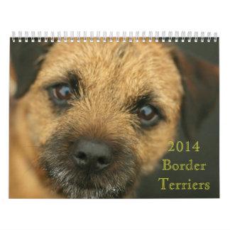 2014 de Kalender van Terrier van de Grens