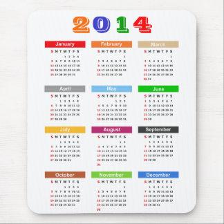 2014 Kalender - het Standaard Veelvoudige Thema va Muismatten