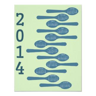 2014 kokende kalender voor zaken 10,8x13,9 uitnodiging kaart