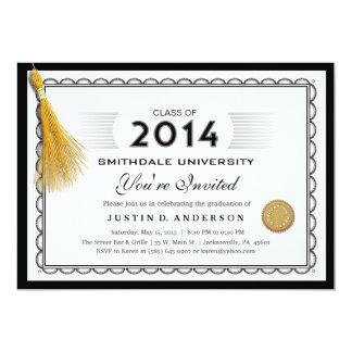 2014 nodigen de Afstuderen van het Diploma met 12,7x17,8 Uitnodiging Kaart