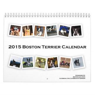 2015 de Kalender van Boston Terrier