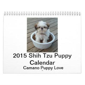 2015 de Kalender van het Puppy van Shih Tzu