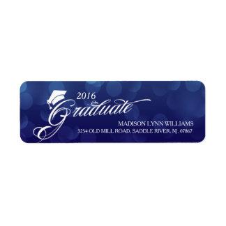 2016 de Gediplomeerde Blauwe Afstuderen van Etiket