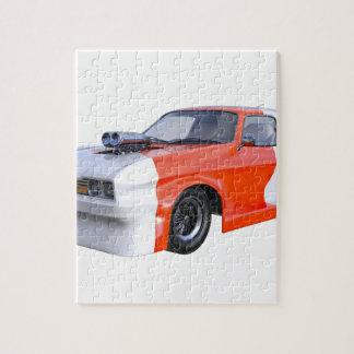 2016 de Oranje en Witte Auto van de Spier Puzzel