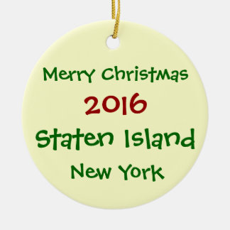 2016 NY van NEW YORK Staten Island het ORNAMENT