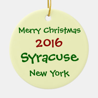 2016 ORNAMENT VAN KERSTMIS VAN SYRACUSE NEW YORK