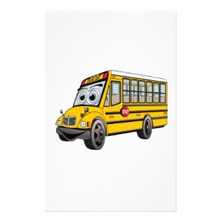 2017 de Cartoon van de Bus van de School Briefpapier