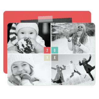 2017 de Kaart van de Collage van de Foto van het 12,7x17,8 Uitnodiging Kaart