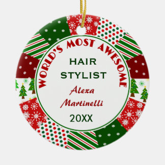 2017 de Meest geweldige gift van Kerstmis van de Rond Keramisch Ornament